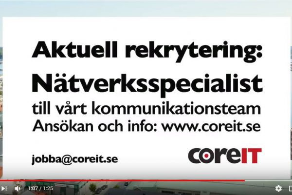 CoreIT Rekryterar Nätverksspecialist