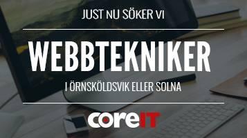 CoreIT söker en Webbtekniker